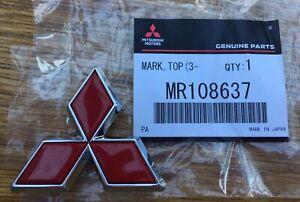 Mitsubishi MR108637 Front Grill 3 Diamond badge Emblem Evo 6 TME Tommi Makinen