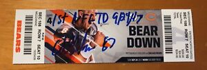 ADAM SHAHEEN SIGNED AUTOGRAPHED TICKET INSC 1ST NFL TD GAME 9/24/17 CHICAGO BEAR