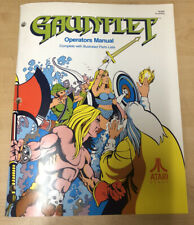 Gauntlet Arcade Service And Parts Manual + Supplement Manual