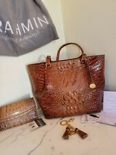 Brahmin Malia Tote Toasted Almond with Matching Wallet