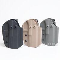 FMA Tactical Pistol Gun Holster For G17 w/ Belt Clip System Waist Mount Military