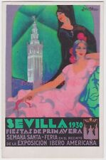 SPAIN SEVILLA FIESTAS DE PRIMAVERA EXPOSICION IBERO AMERICANA Advert 1930 - SP06