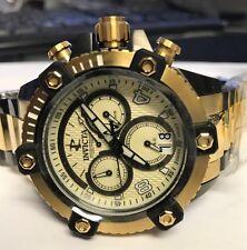 New Mens Invicta 12985 Arsenal Swiss Chronograph Gold Tone 48mm Watch