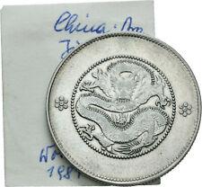 LANZ China Yunnan Province 1/2 Dollar 1911 Kuang Hsü Qing Dragon Silver µPR89