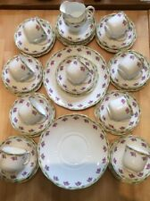 STUNNING EDWARDIAN TEA SERVICE FOR 9 ~ 35 Pieces