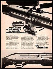 1973 Ithaca Model 51 Gas Auto Shotgun Vintage Hunting Ad