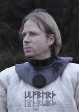 Ulfberth Ringkragen Leder mit Eisenplatten Kragen Lederrüstung Mittelalter LARP