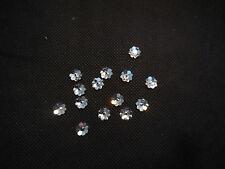 10pcs FLAT base floreale argento Sew IN VETRO ACRILICO CON STRASS alcuno scopo diy7mm
