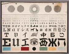 George Mayerle's Eye Test Chart 1907, 6x5 Inch Print
