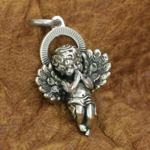925 Sterling Silver Cupid Pendant Charms Little Angel God of Love Pendant TA187B
