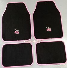Universal Non-slip Full Carpet Pink Ladybug Car Mats 4PCE For All Models