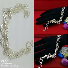 Handmade peruvian 950 silver bracelet wrought to perfection