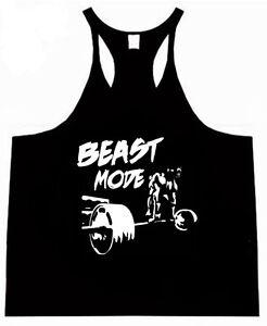 DEADLIFT Stringer RACERBACK bodybuilding low scoop Gym Tank Singlet Gym Top Vest