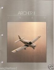 Brochure - Piper - Archer II - 3 items - 1985 (B379)