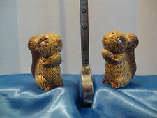 Vintage Sitting Squirrel's Salt & Pepper Shakers Made in Japan