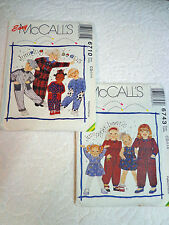 Easy McCall's Jumping Beans Child Sewing Patterns #6743 & #6710 Sz CD (2,3,4)