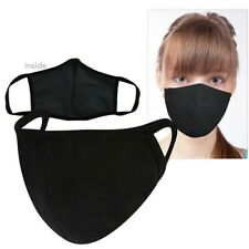 10 Pack Two ply black fabric face mask- in stock in NJ- ships FREE in 24 hours.