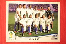 Panini BRASIL 2014 N. 394 TEAM HONDURAS WITH BLACK BACK TOPMINT!!