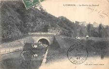LIVERDUN LA SORTIE DU TUNNEL BOAT PARIS FRANCE POSTCARD 1911