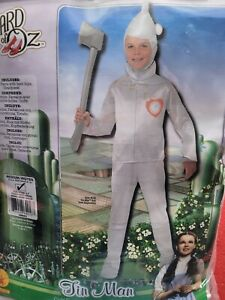 Children's Costume The Wizard Of Oz Tin Man Size 5-7 Years