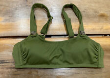 Xhilaration Scoop Neck Ribbed Green Bikini Top Size Medium NWOT