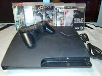 Sony Playstation 3 PS3 Slim 120gb CECH-2001A Console, Controller, 6 Games-Tested