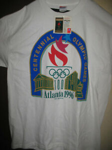 NWT Authentic Olympic Games Atlanta 1996 T-Shirt 100 Years Adult XL 46/48