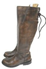 Bed Stu Manchester Teak Glaze Cobbler Series Tall Lace Up Leather Boots 6.5 #4