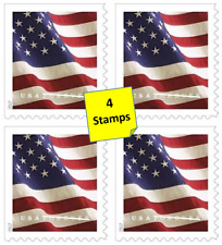4 First Class Flag Forever Stamps