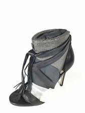Marc Fisher Lauren Women's Size 7.5 Black Leather Strappy Heel Dress Shoes.
