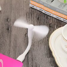 Hot Sale USB Mini White Fan Flexible Charge For all Power Supply USB Output Mute