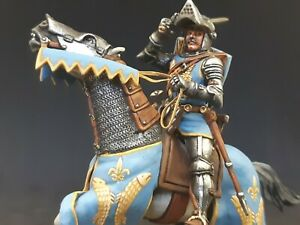 Horseman Knight Tin soldier 54 mm 1/32 scale HAND PAINTED