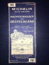 Rare ! Carte Michelin Allemagne Deutschland Auto Reifen 1934