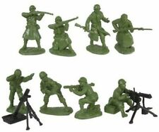 TSSD 1/32 Scale Plastic WWII US Infantry Fire Support Figures Set 9 New In Bag!
