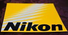 Nikon Logo Aufkleber in 16,5 x 16,5 cm. —NEU—