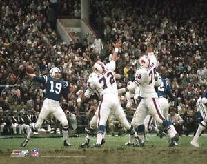 JOHNNY UNITAS Baltimore Colts vs Buffalo Bills 1970 Classic Premium POSTER Print