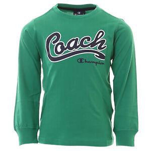 Champion Kids Long Sleeve Shirt Training Sports Fashion Boy Fitness 305023-GS018