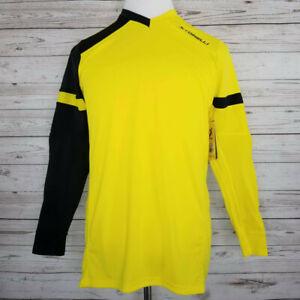 NWT Storelli Adult Size Medium Exoshield Soccer GoalKeeper Jersey Yellow Black