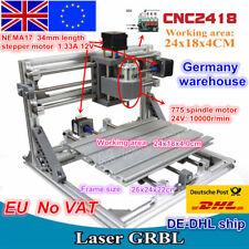 【EU Ship】3 Axis DIY Mini Desktop 2418 CNC Router Engraving Milling Laser Machine