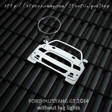 Ford Mustang GT 2014 Version 2 Stainless Steel Keychain