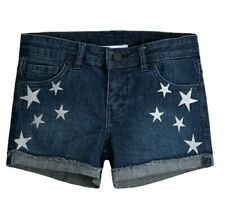 New Youth Girls 14 Levis Levi Strauss Blue Gray Star Sparkle Jean Shorty Shorts