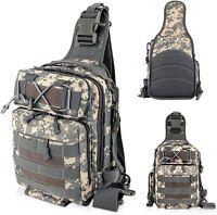Fishing Tackle Bag Backpack Storage Waterproof Outdoor Camping Cross Body Sling