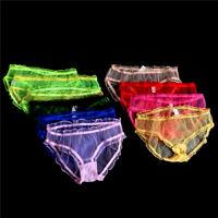 Culotte de dentelle transparente sexy plus taille pure Slip slips culottes BB