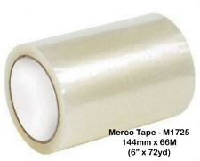 """Merco M1725 - 6"""" W I D E Label Protection Tape 144mm x 72 yds - Clear - 24 Rolls"""