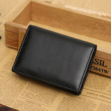 Men's Leather Wallet Bifold ID Credit Card Holder Mini Purse Money Clip Bags