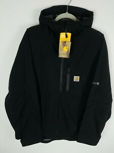 Carhartt Storm Defender Force Mid Weight Hooded Jacket Men's L-XL Black 104245