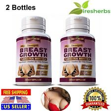 BREAST GROWTH PUERARIA MIRIFICA Larger Breasts Skin Care Helps Menopause 120Caps