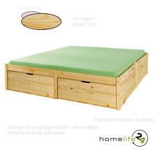 Très beau lit à rangement 180 x 200cm 2 grands tiroirs à roulettes et 1 sommi...