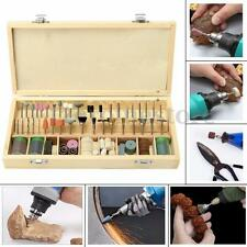 230pc Rotary Tool Accessory Bit Mini For Dremel Grinding Hobby Drill Tool + Case