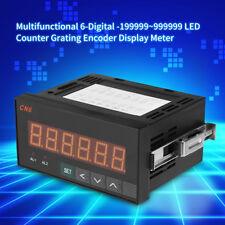 Multifunctional 6-Digital LED Counter Grating Encoder Display Meter Relay Output